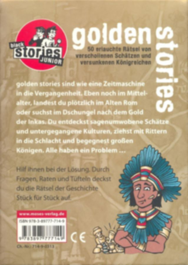 Black Stories Junior: Golden Stories back of the box