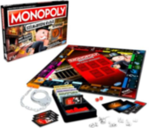 Monopoly Cheater Edition components