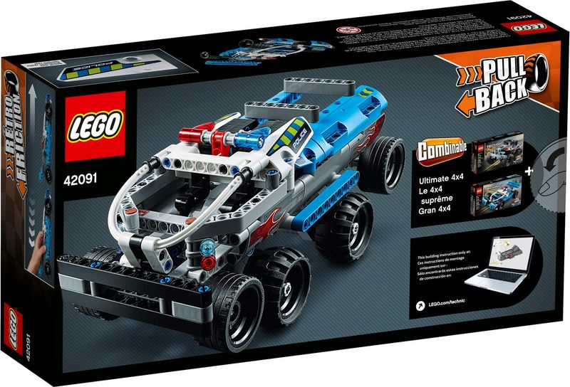 LEGO® Technic Police Pursuit back of the box