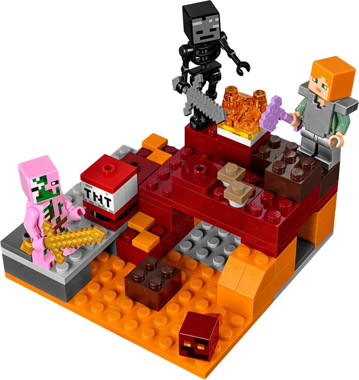 LEGO® Minecraft The Nether Fight components
