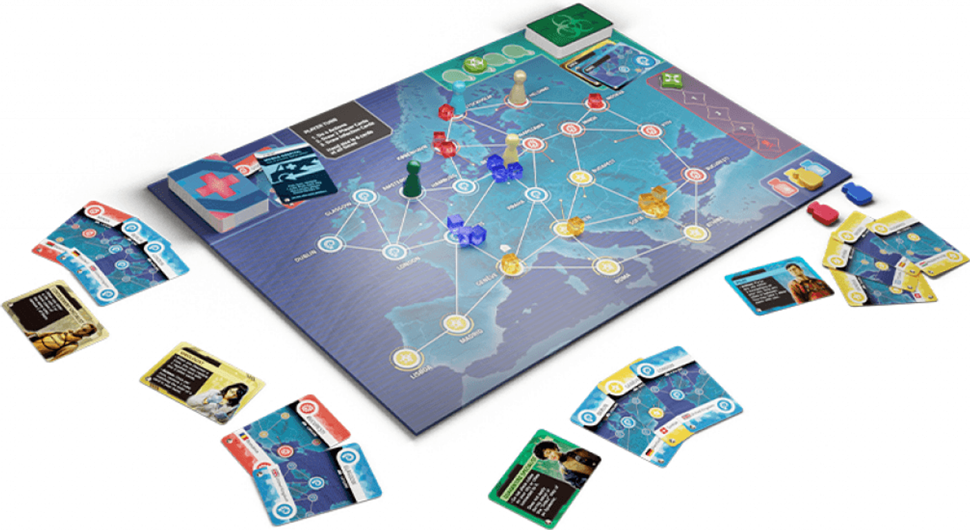 Pandemic: Hot Zone – Europe components