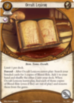 Arkham Horror: The Card Game - Before the Black Throne: Mythos Pack Occult Lexicon card