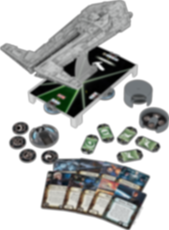 Star Wars: Armada - Onager-Class Star Destroyer Expansion Pack components