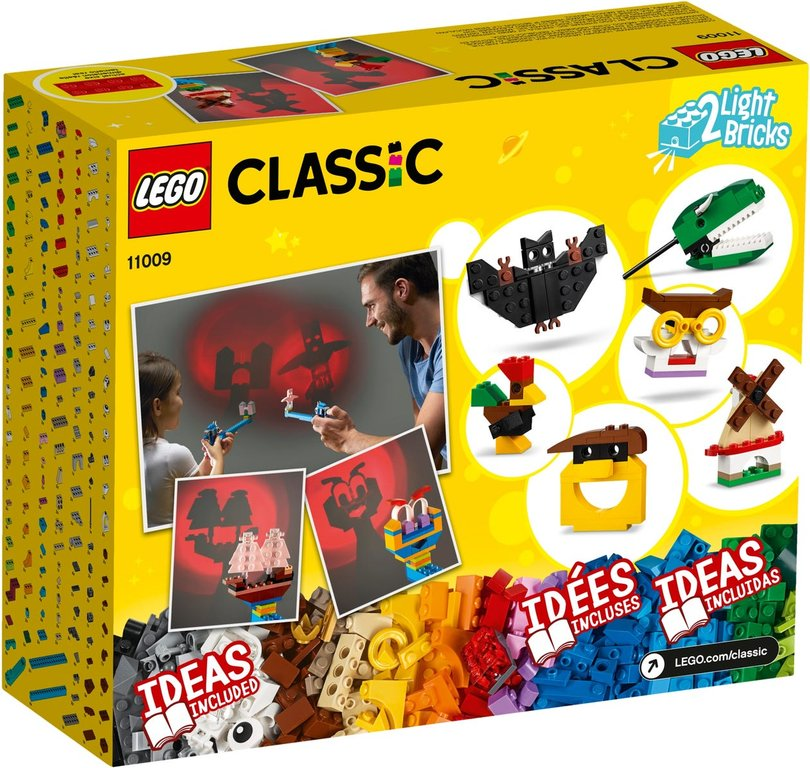 LEGO® Classic Bricks and Lights back of the box