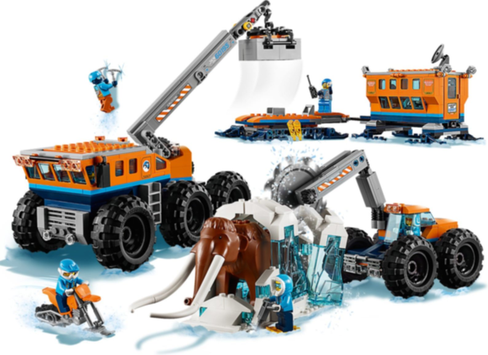 LEGO® City Arctic Mobile Exploration Base gameplay