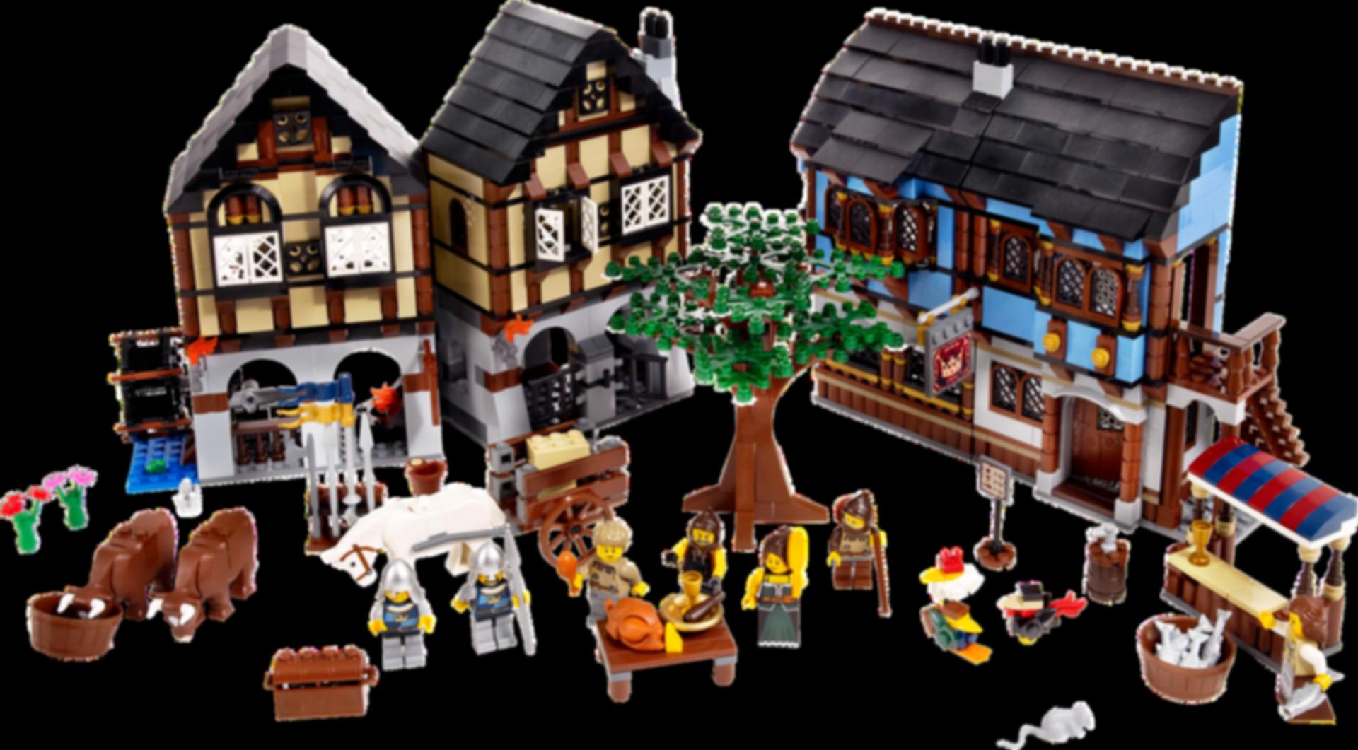 Medieval Market Village components