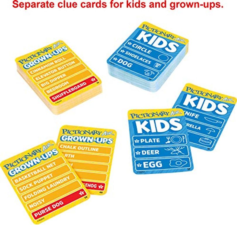 Pictionary Air: Kids vs. Grown-ups cards