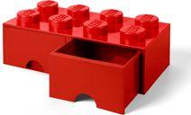8-stud Bright Red Storage Brick Drawer components