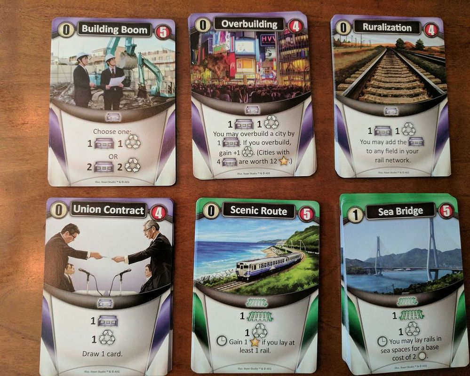 Trains: Coastal Tides cards