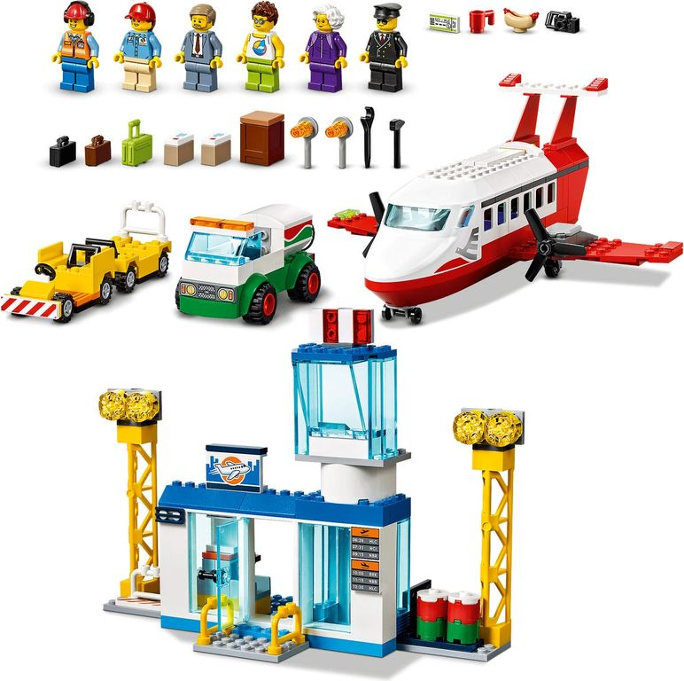 LEGO® City Central Airport components