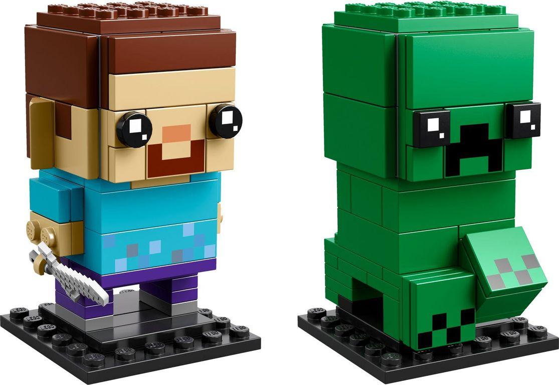 LEGO® BrickHeadz™ Steve & Creeper™ components