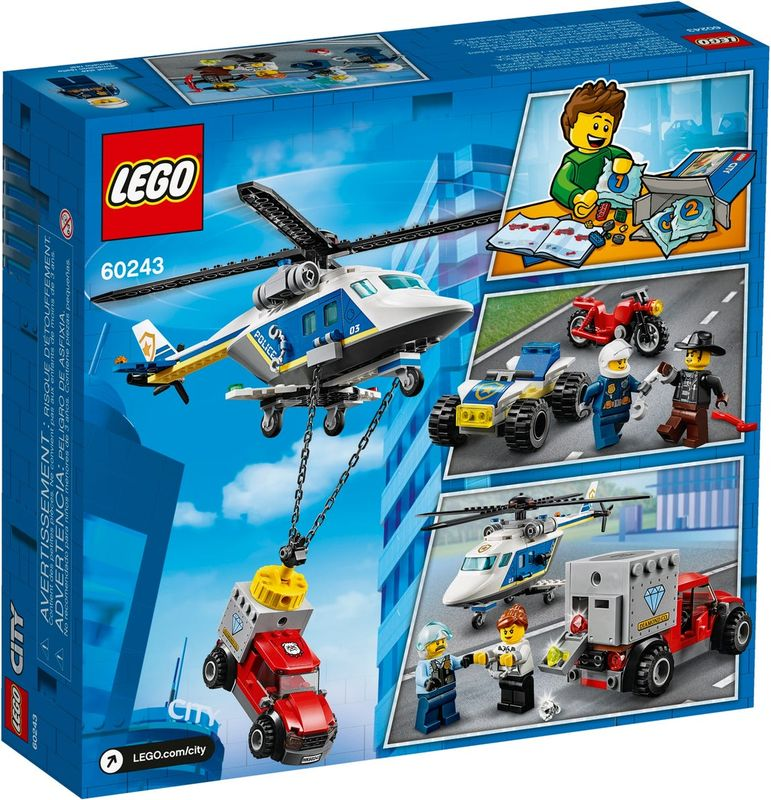 LEGO® City Police Helicopter Chase back of the box