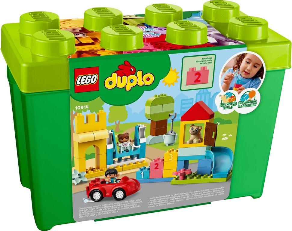 LEGO® DUPLO® Deluxe Brick Box back of the box