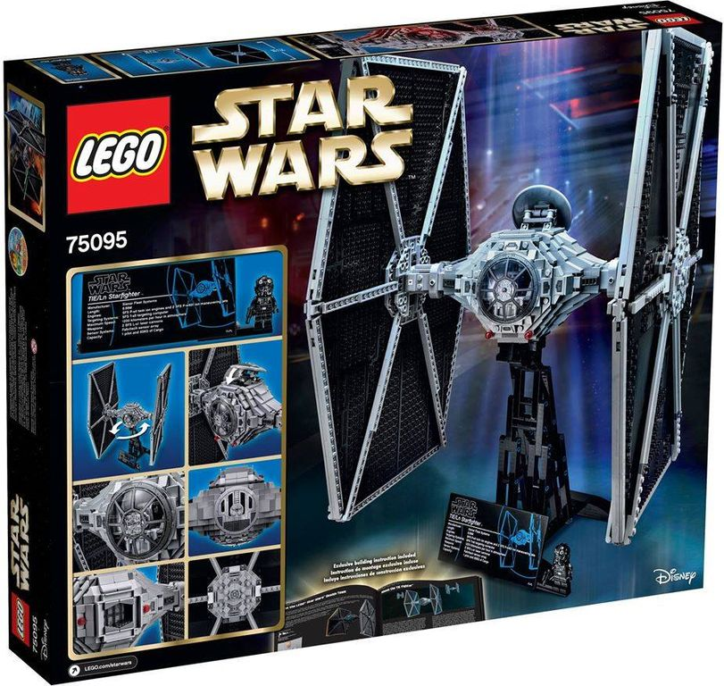 LEGO® Star Wars TIE Fighter back of the box