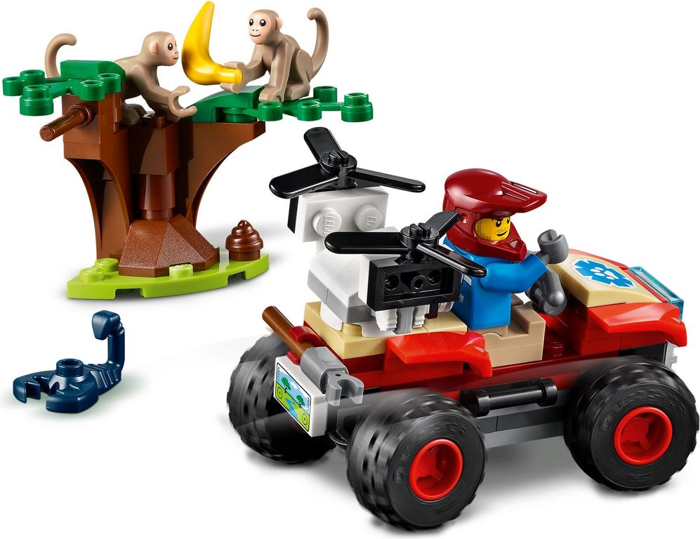 LEGO® City Wildlife Rescue ATV components
