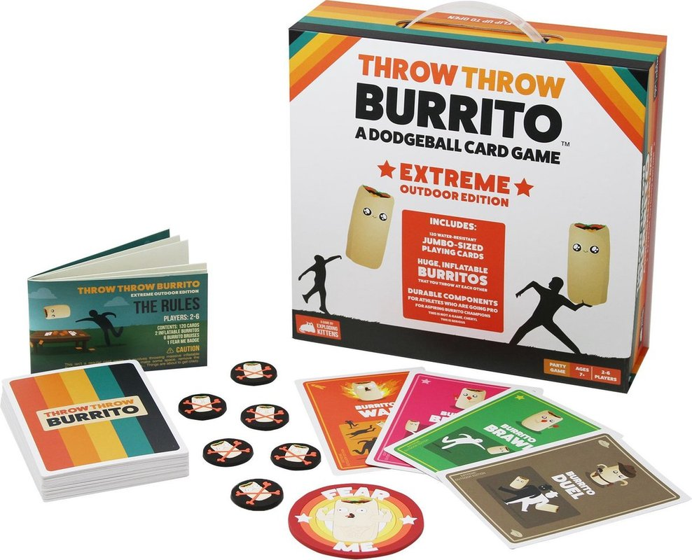 Throw Throw Burrito Extreme Outdoor Edition components
