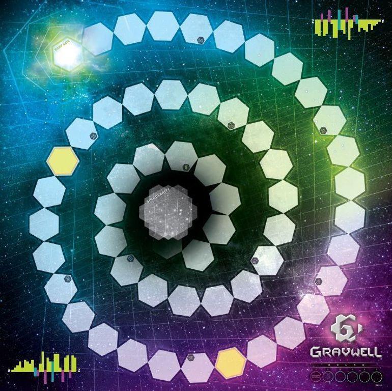 Gravwell: Escape from the 9th Dimension game board