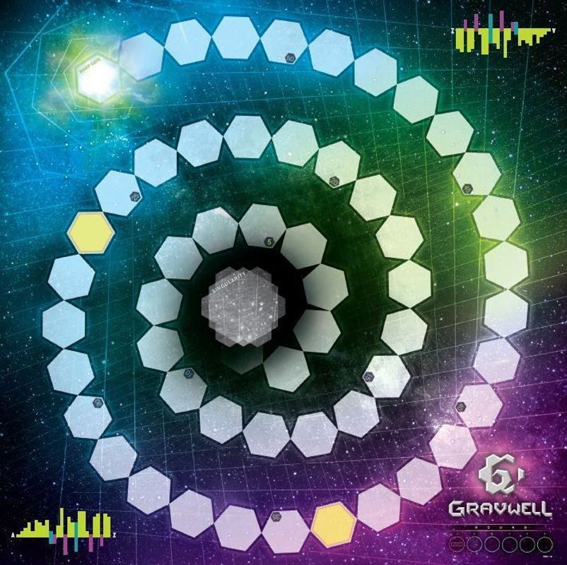 Gravwell: Escape from the 9th Dimension game board