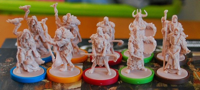 Blood Rage: Mystics of Midgard miniatures