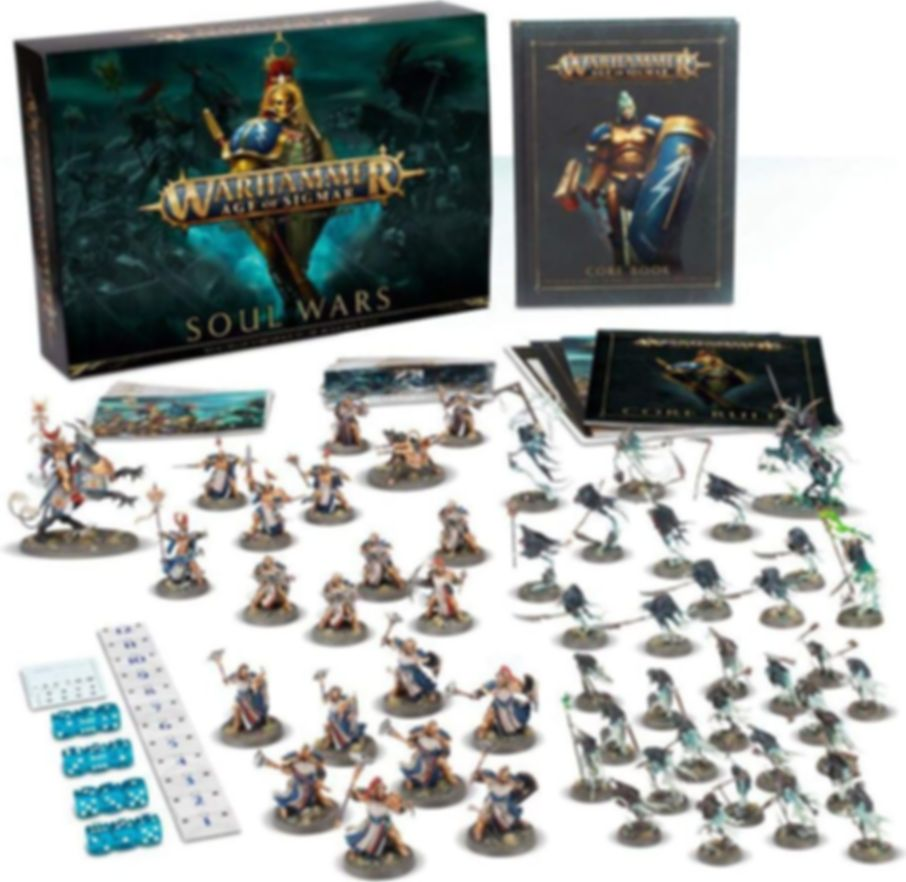 Warhammer Age of Sigmar: Soul Wars components