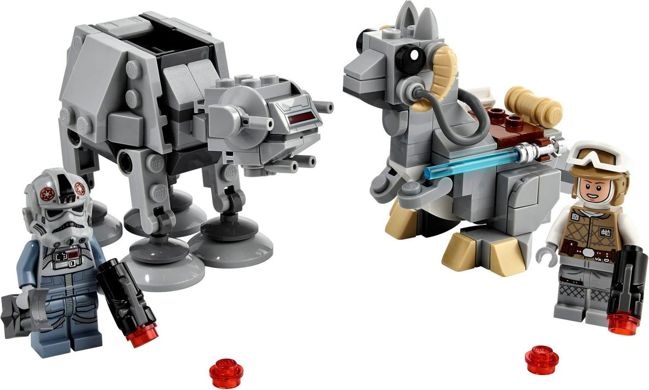 AT-AT™ vs. Tauntaun™ Microfighters components