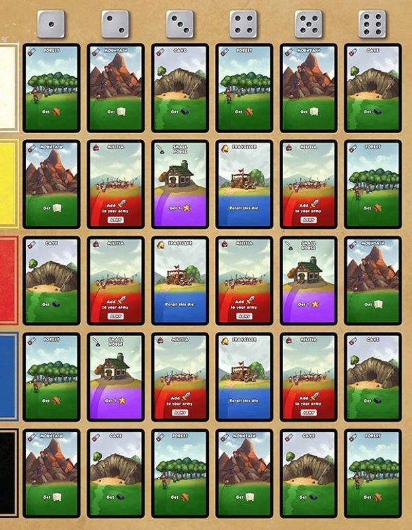 Dice City cards