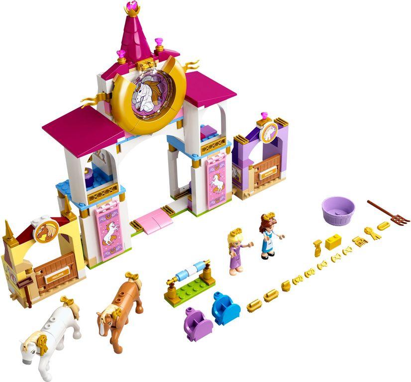 LEGO® Disney Belle and Rapunzel's Royal Stables components