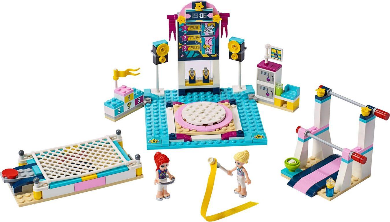 LEGO® Friends Stephanie's Gymnastics Show components
