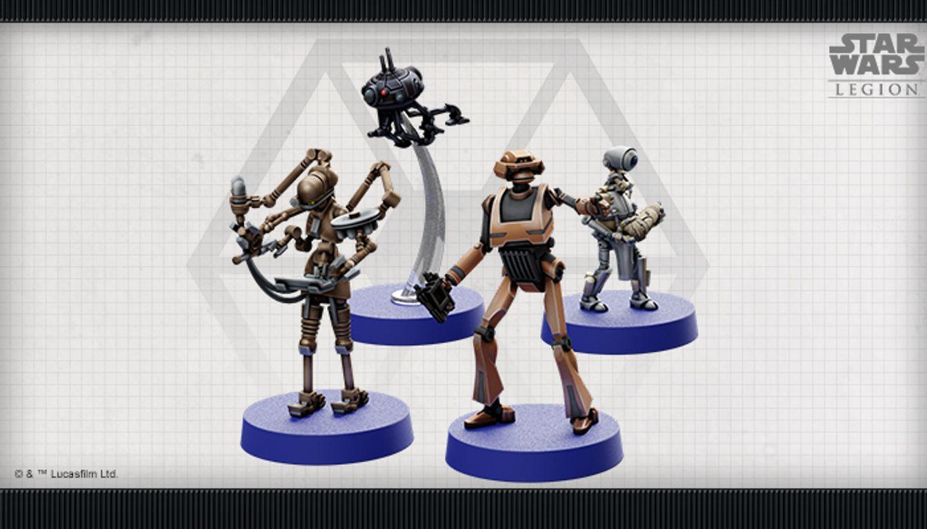 Star Wars: Legion – Separatist Specialists Personnel Expansion miniatures