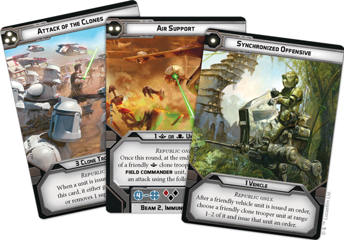 Star Wars: Legion – Republic Specialists Personnel Expansions cards
