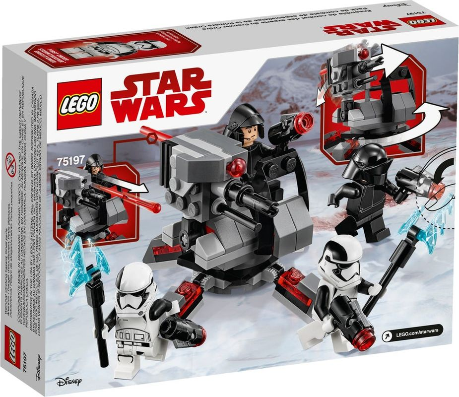 First Order Specialists Battle Pack back of the box