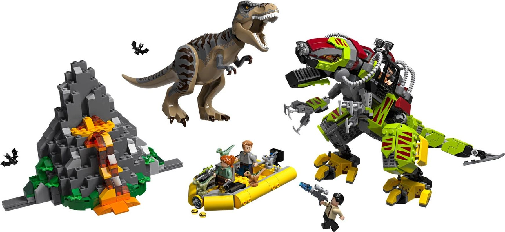 T. rex vs Dino-Mech Battle components