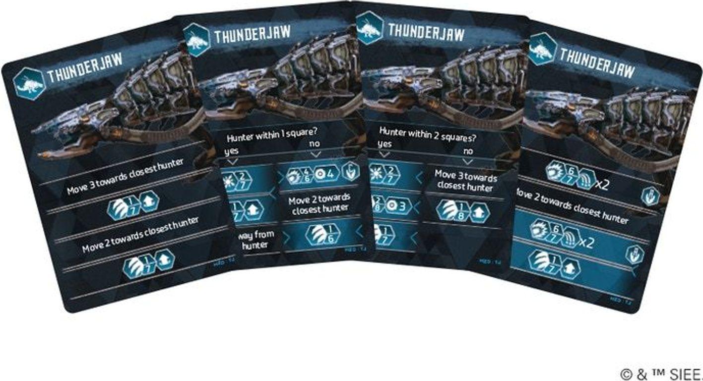 Horizon Zero Dawn: The Board Game – Thunderjaw cards
