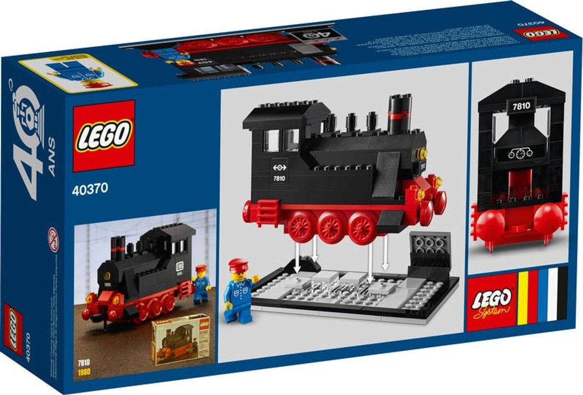 LEGO® Promotions Iconic Steam Engine (40 Years of LEGO Trains) back of the box