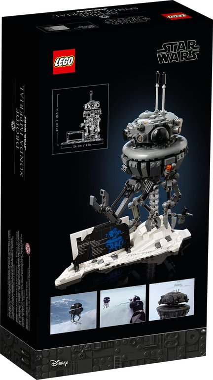 LEGO® Star Wars Imperial Probe Droid™ back of the box