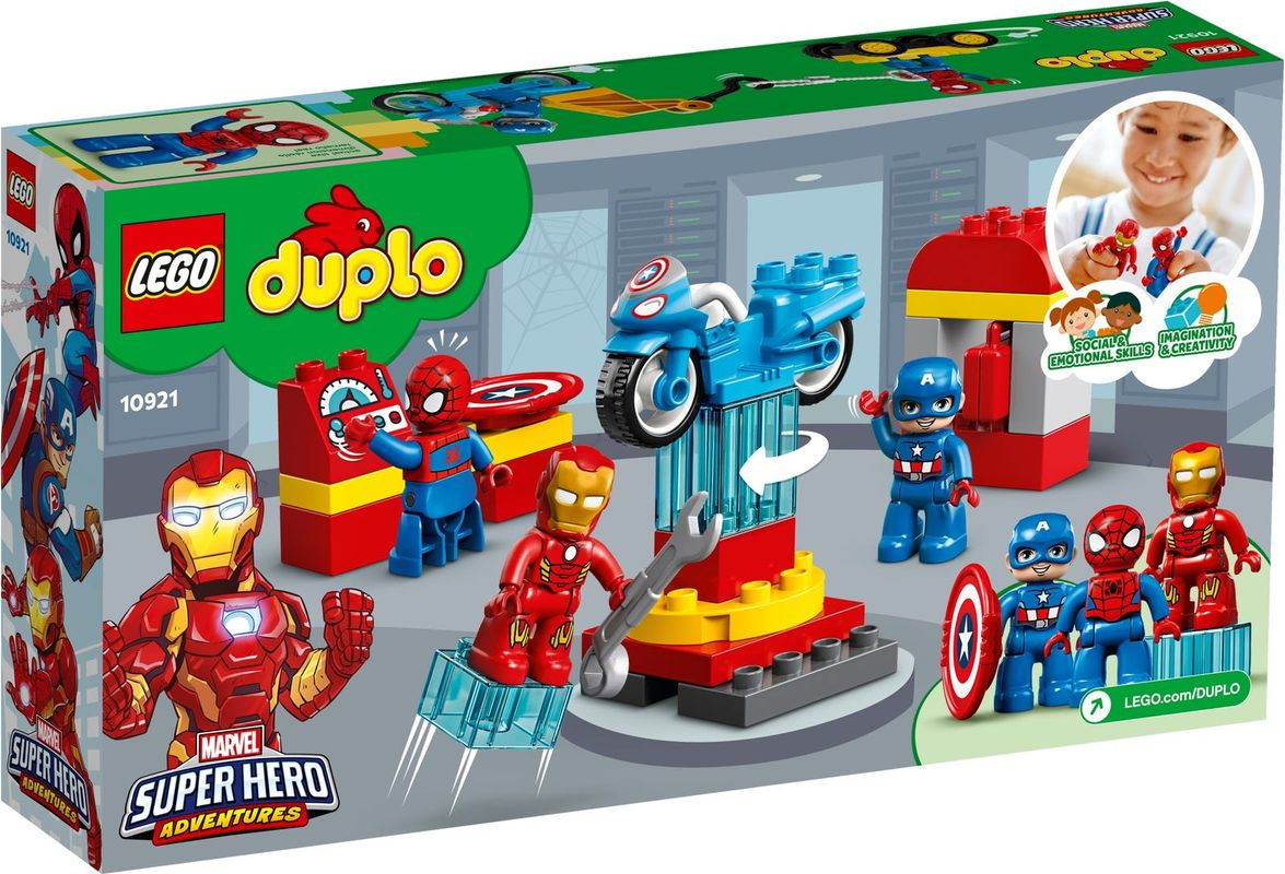 Super Heroes Lab back of the box
