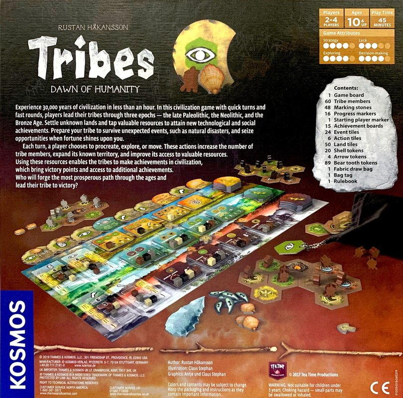 Tribes: Dawn of Humanity back of the box