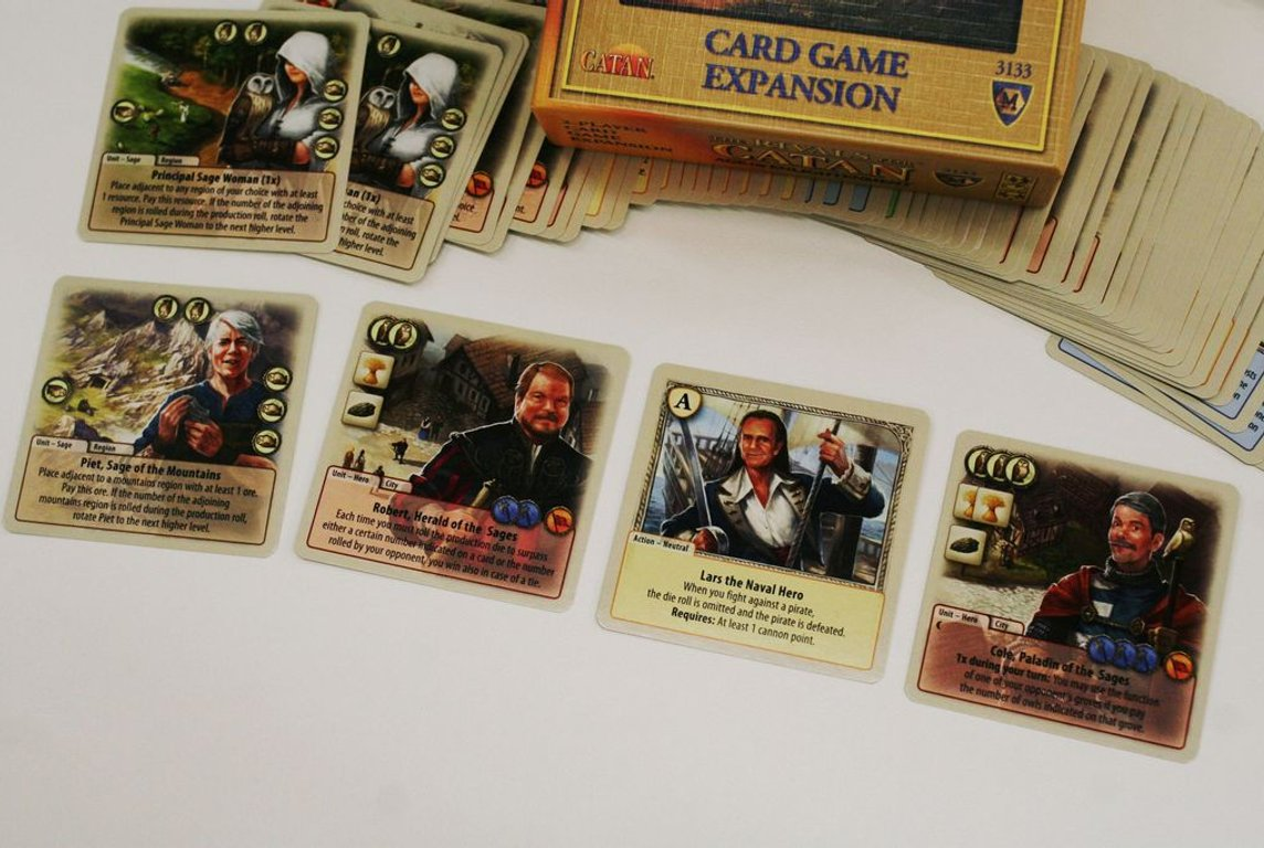 The Rivals for Catan: Age of Enlightenment cards