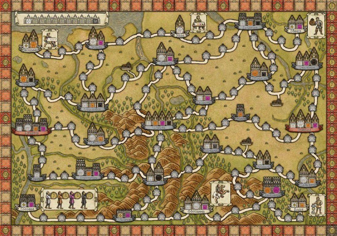 Hansa Teutonica game board