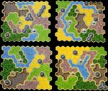 Kingdom Builder: Nomads game board