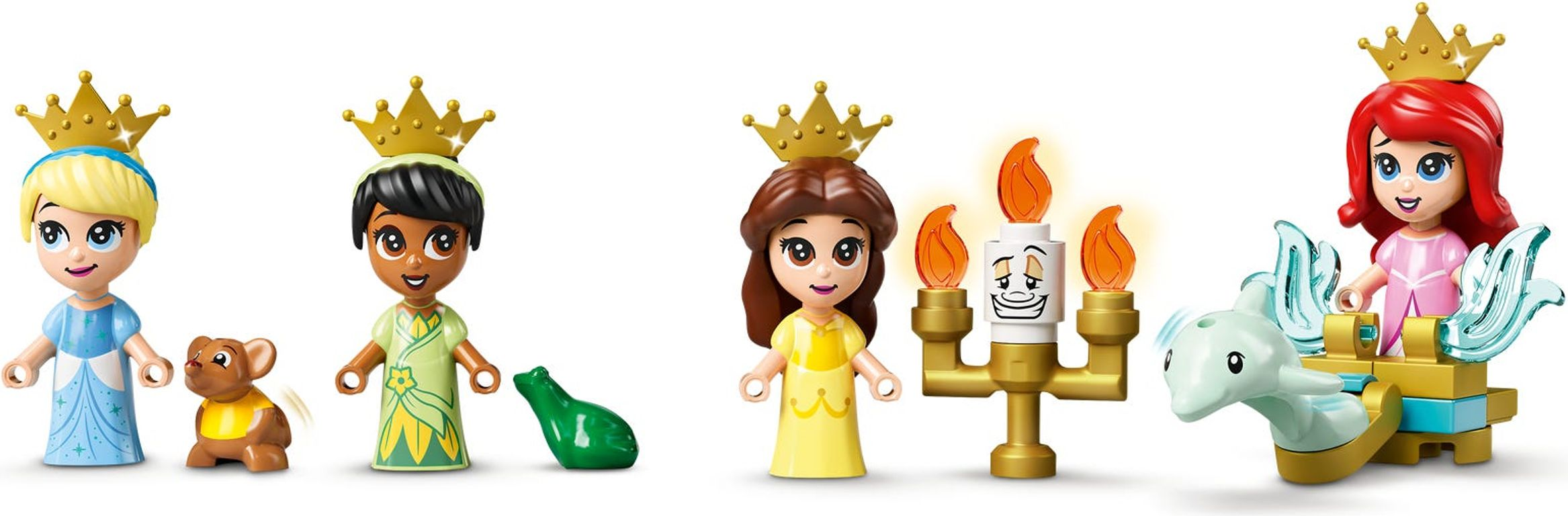 LEGO® Disney Ariel, Belle, Cinderella and Tiana's Storybook Adventures minifigures