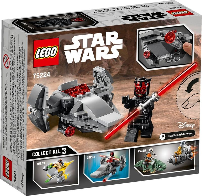 LEGO® Star Wars Sith Infiltrator™ Microfighter back of the box