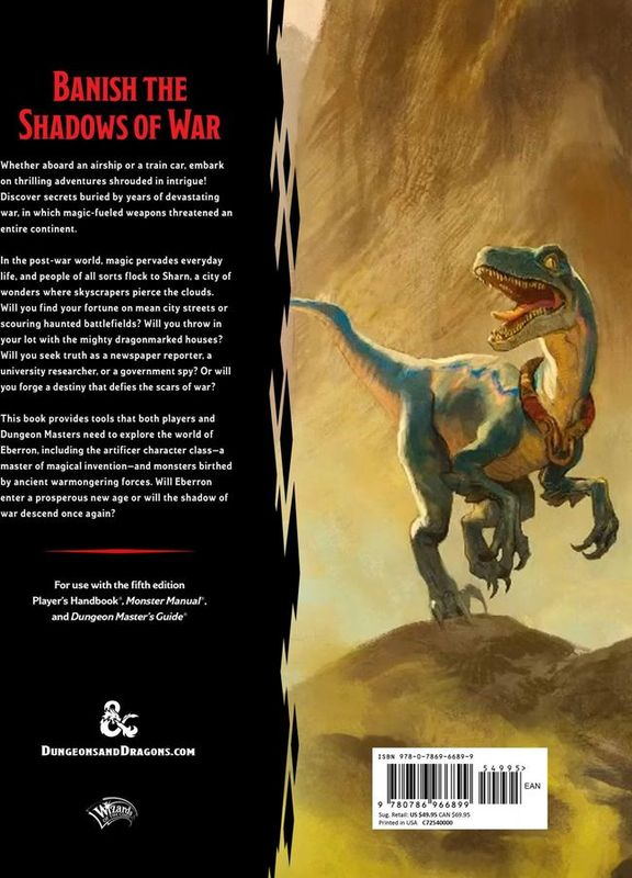Eberron: Rising from the Last War back of the box