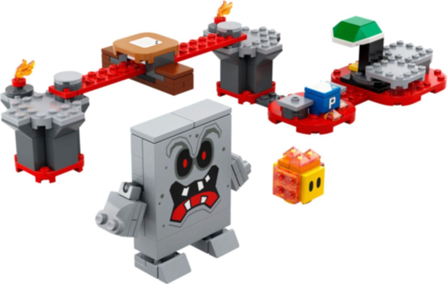 Whomp's Lava Trouble Expansion Set components