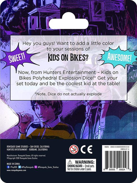 Kids on Bikes RPG: Dice Set back of the box