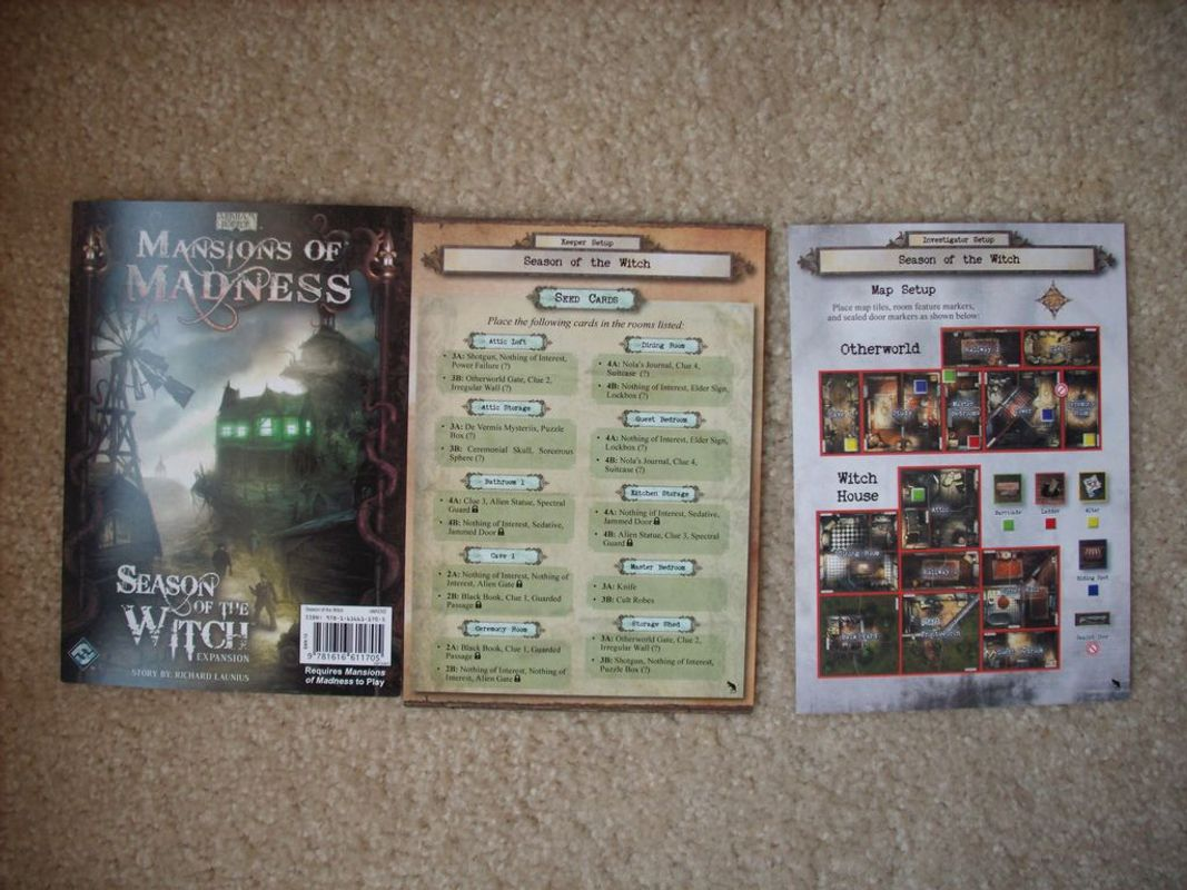 Mansions of Madness: Season of the Witch components
