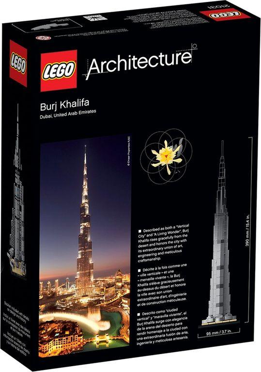 Burj Khalifa back of the box