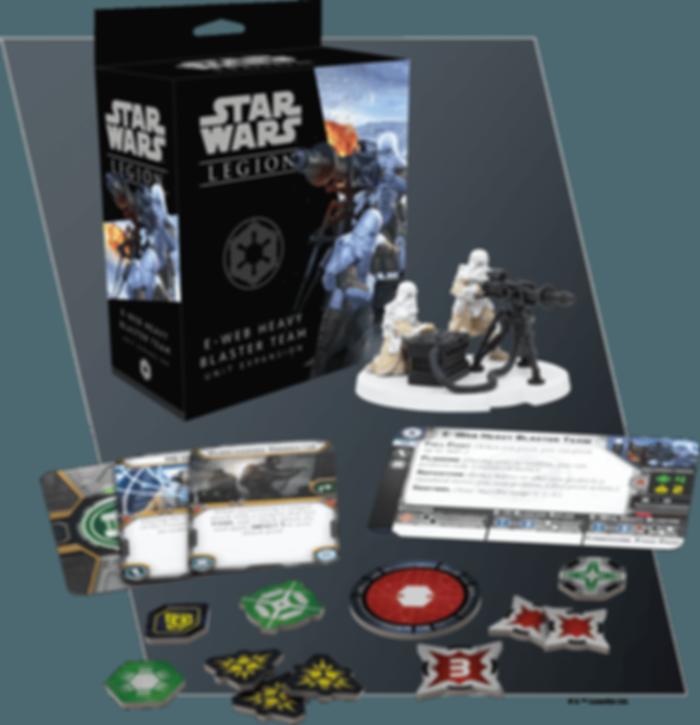 Star Wars: Legion – E-Web Heavy Blaster Team Unit Expansion components