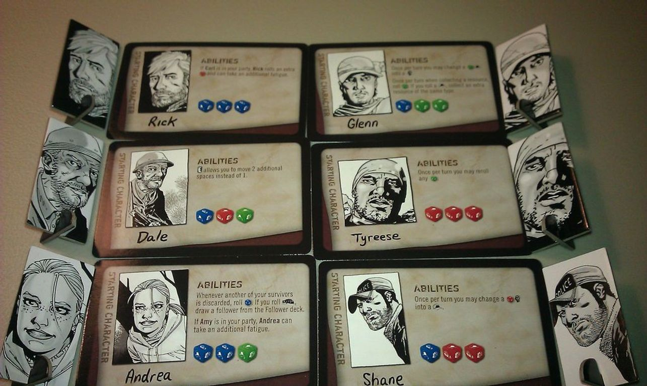 The Walking Dead: The Board Game cards