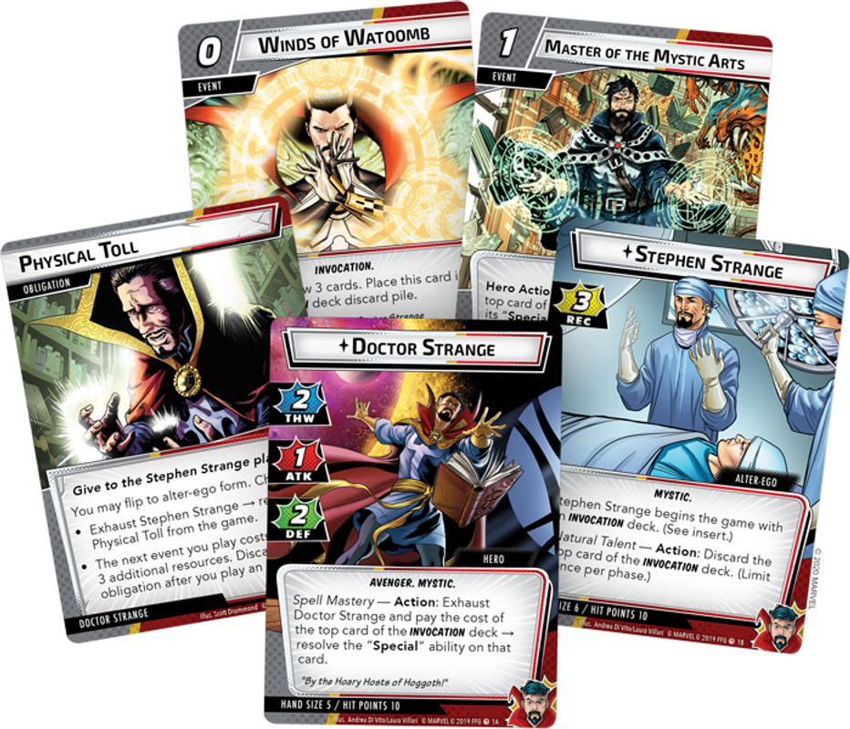 Marvel Champions: The Card Game - Doctor Strange Hero Pack cards